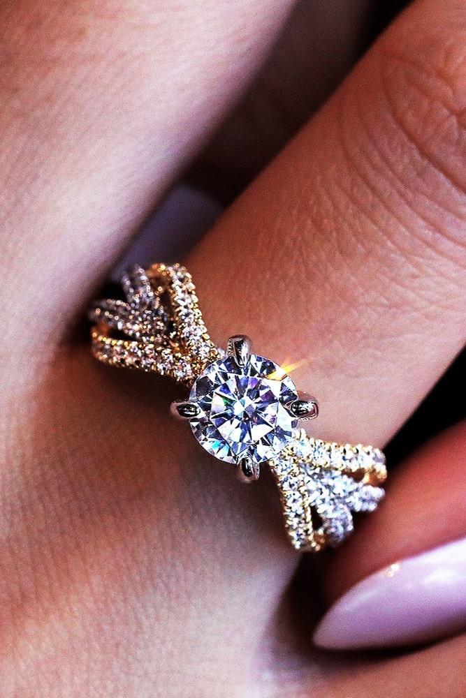 unique engagement rings two tone engagement rings round diamond engagement rings beautiful engagement rings modern engagement rings