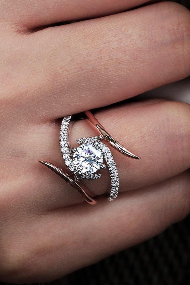 unique engagement rings two tone engagement rings round diamond engagement rings beautiful engagement rings modern engagement rings split shank engagement rings