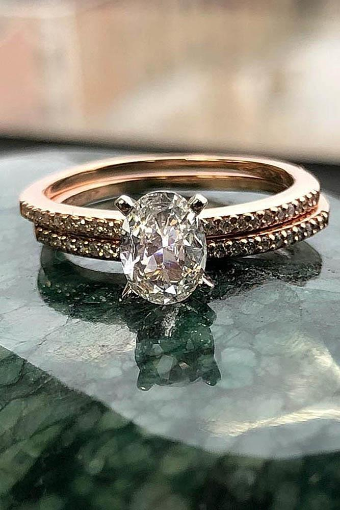 bridal sets rose gold wedding ring sets diamond wedding rings oval cut engagement rings simple engagement rings