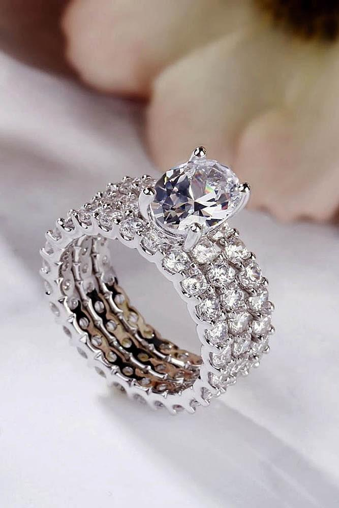 bridal sets white gold wedding ring sets diamond wedding rings oval cut engagement rings simple engagement rings