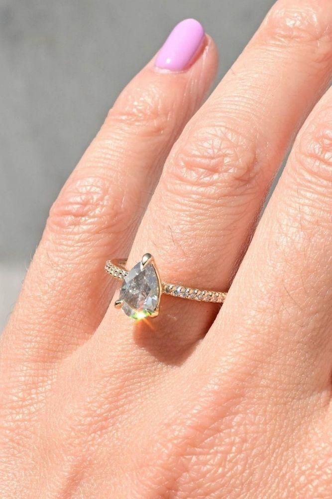 classic engagement rings pear cut classic rings2