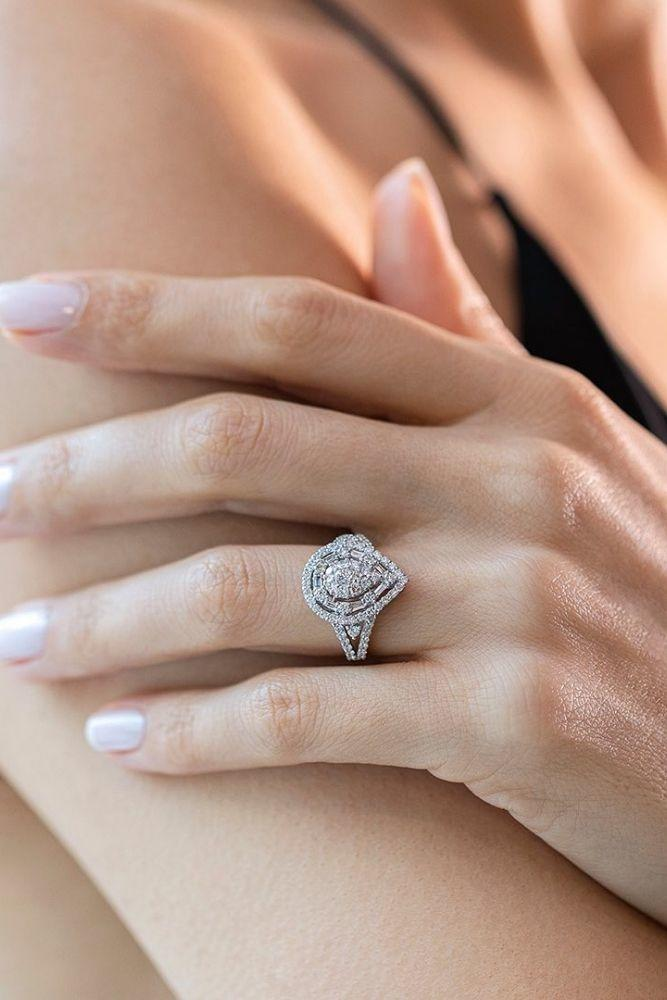 classic engagement rings pear cut classic rings