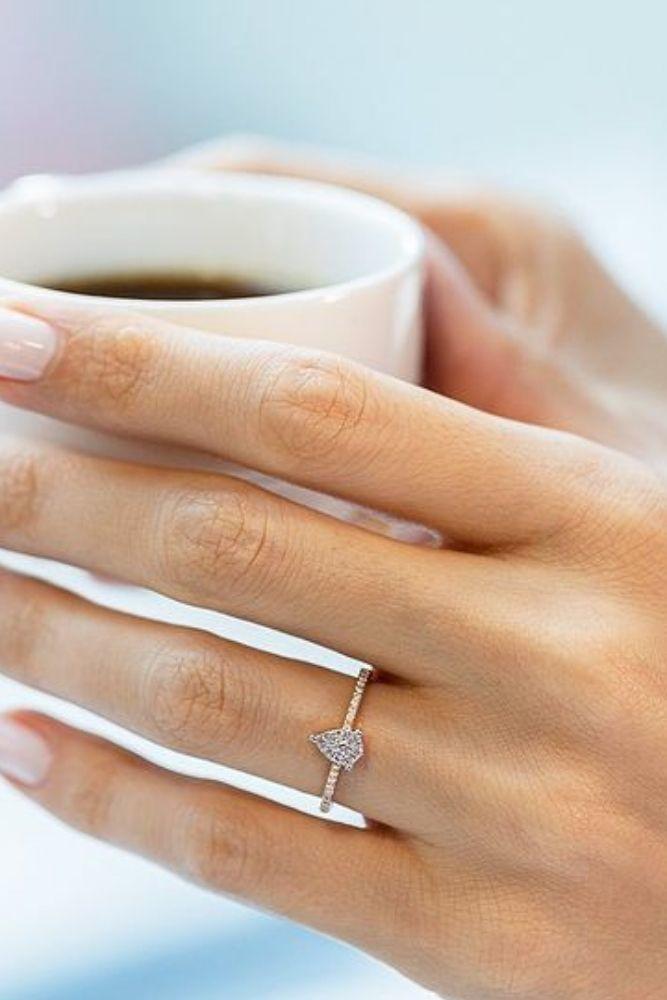 classic engagement rings pear cut classic rings1