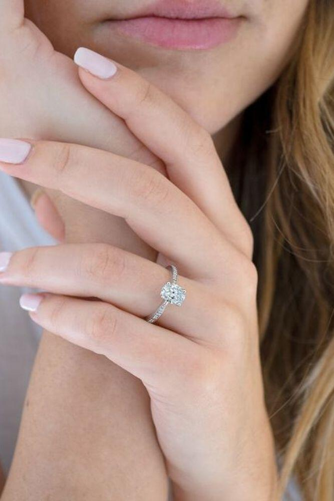 classic engagement rings princess cut classic rings2