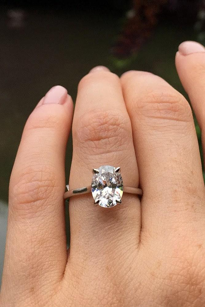 oval engagement rings diamond engagement rings rose gold engagement rings solitaire engagement rings simple engagement rings