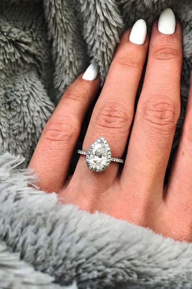 pear shaped engagement rings white gold engagement rings beautiful engagement rings halo engagement rings