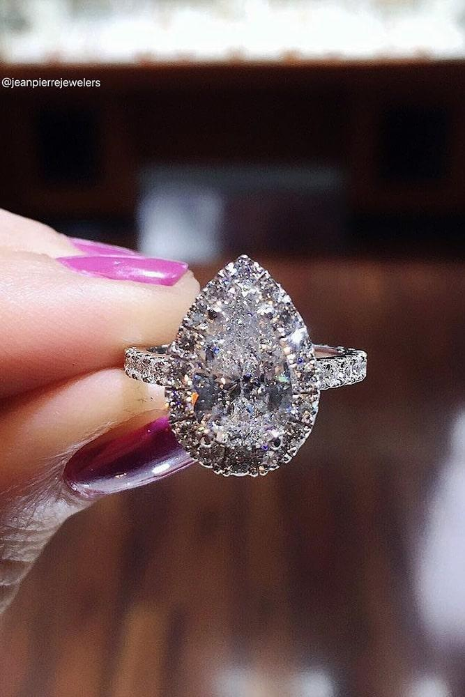 pear shaped engagement rings white gold engagement rings diamond engagement rings halo engagement rings