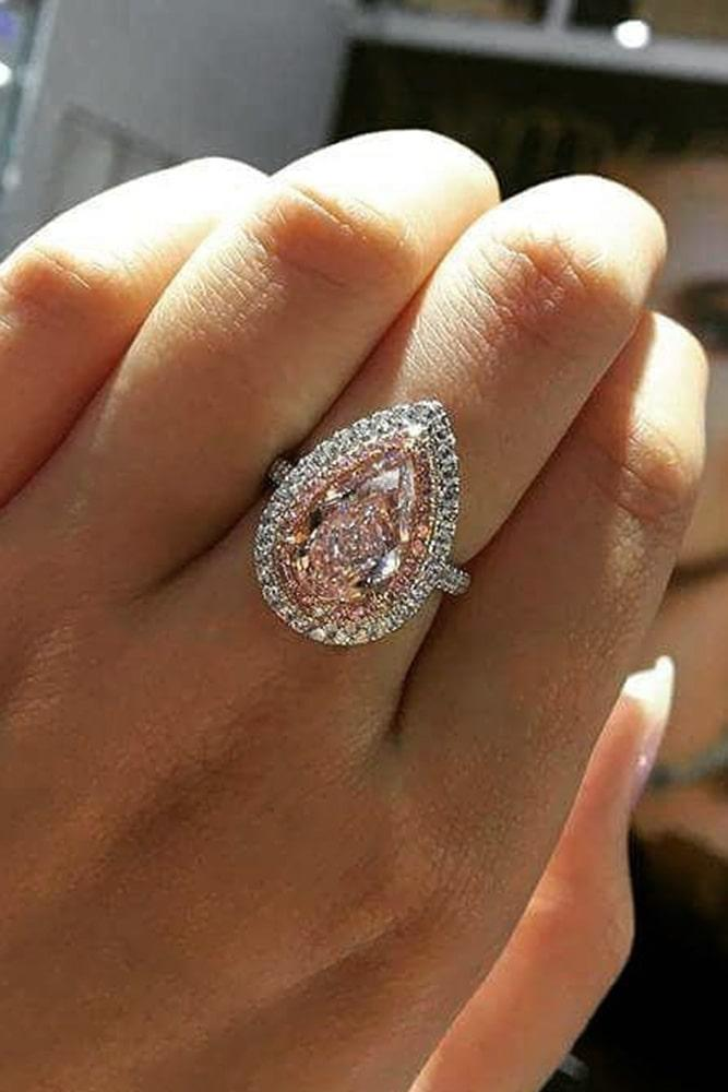 pear shaped engagement rings white gold engagement rings pink diamond engagement rings halo engagement rings