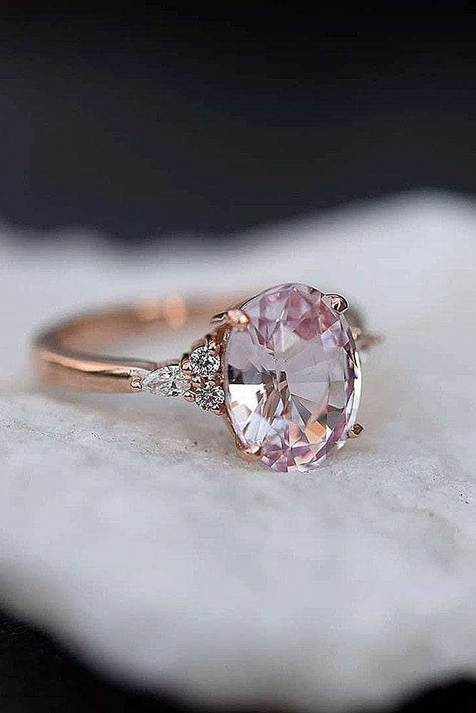 sapphire engagement rings unique engagement rings pink sapphire rings rose gold engagement rings oval cut rings