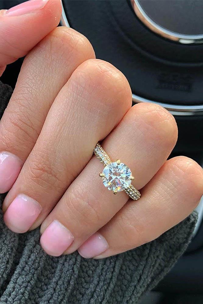 simple engagement rings white gold engagement rings solitaire engagement rings round diamond engagement rings