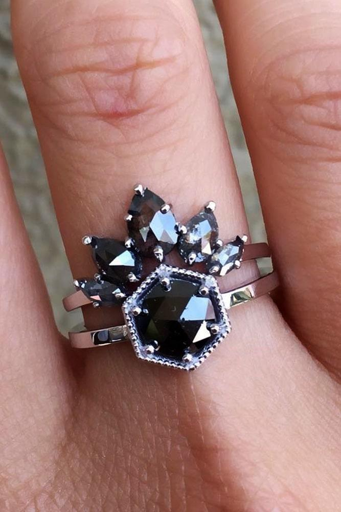unique engagement rings black diamond engagement rings white gold engagement rings marquise cut engagement rings round rings