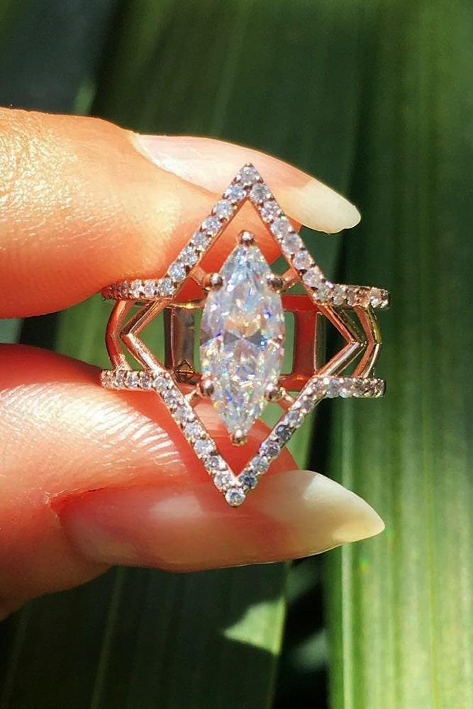 unique engagement rings diamond engagement rings rose gold engagement rings marquise cut engagement rings beautiful engagement ring