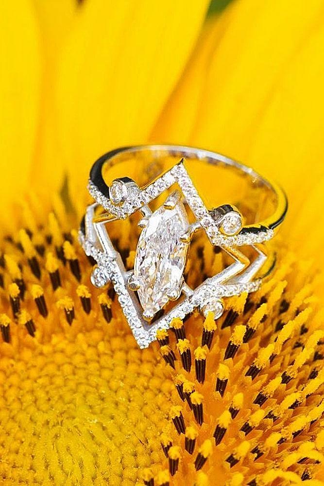 unique engagement rings diamond engagement rings rose gold engagement rings marquise cut engagement rings beautiful engagement rings