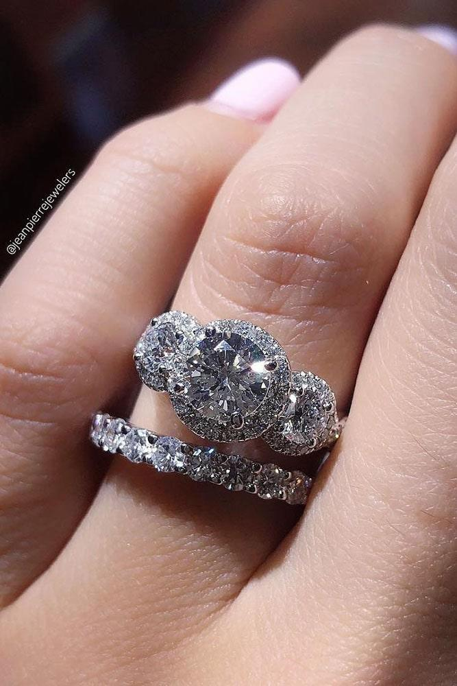 wedding ring sets white gold wedding rings halo wedding rings diamond engagement rings best rings