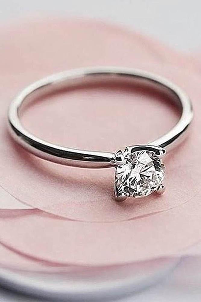 white gold engagement rings simple engagement rings solitaire engagement rings round diamond engagement rings