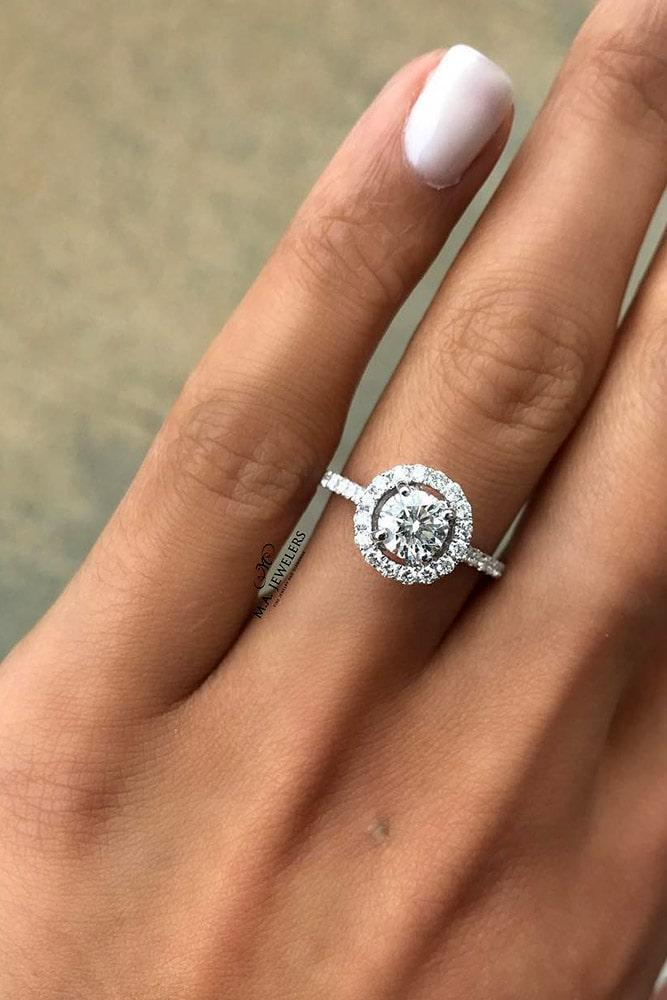 diamond engagement rings white gold engagement rings halo engagement rings round diamond engagement rings
