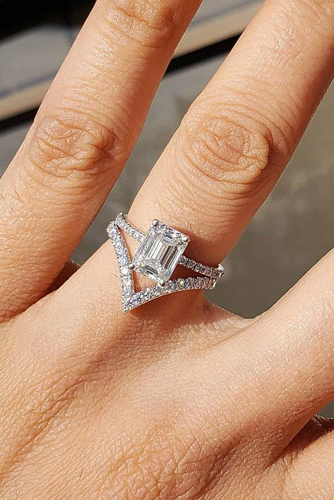 diamond wedding rings white gold wedding rings emerald cut diamond engagement rings solitaire rings