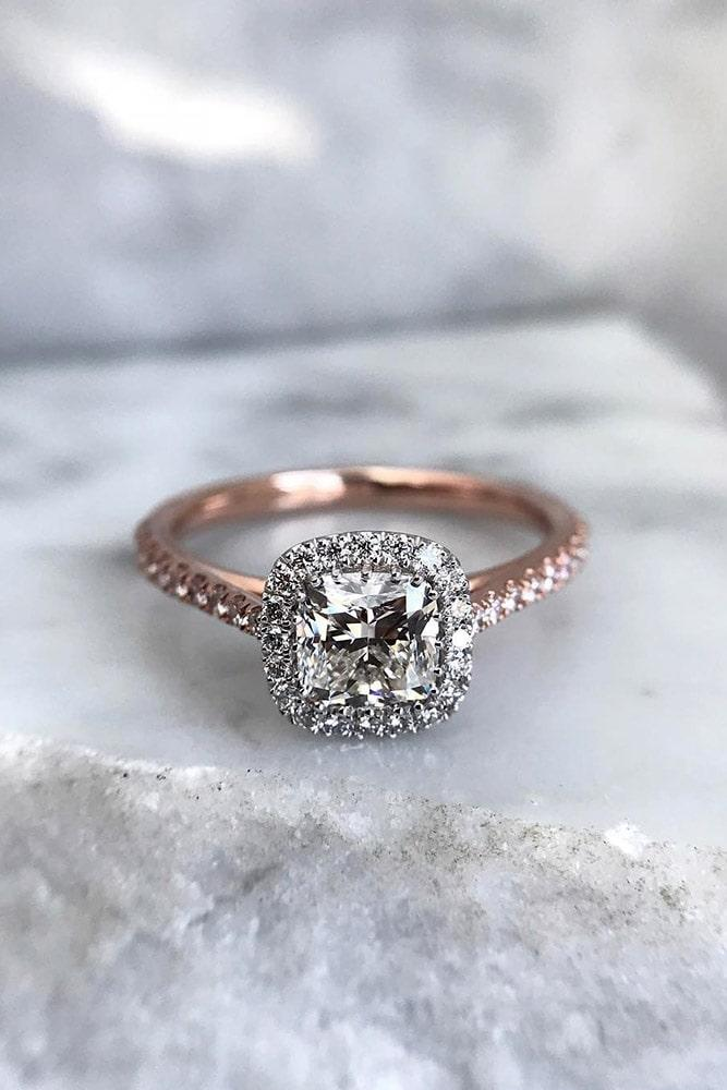 rose gold engagement rings halo engagement rings diamond engagement rings beautiful rings