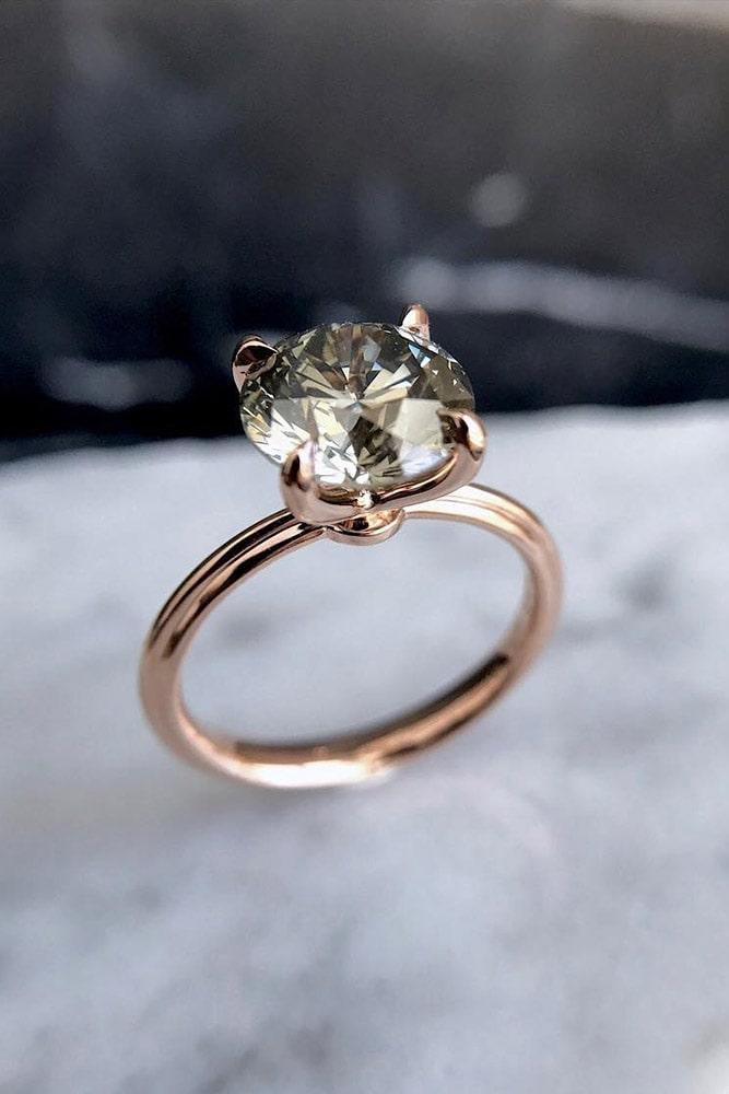 rose gold engagement rings round engagement rings diamond engagement rings beautiful rings solitaire rings