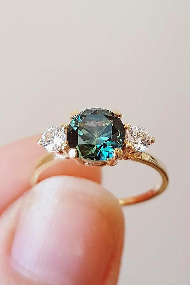 sapphire engagement rings round sapphire engagement rings rose gold engagement rings diamond rings