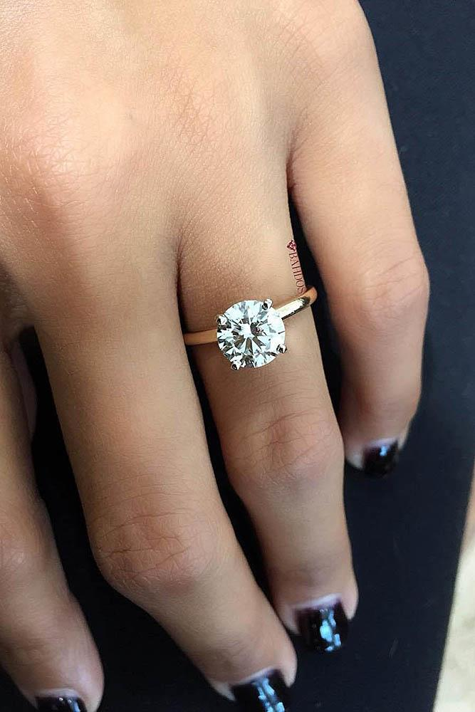27 Simple Engagement Rings For Girls Who Love Classic | Oh ...