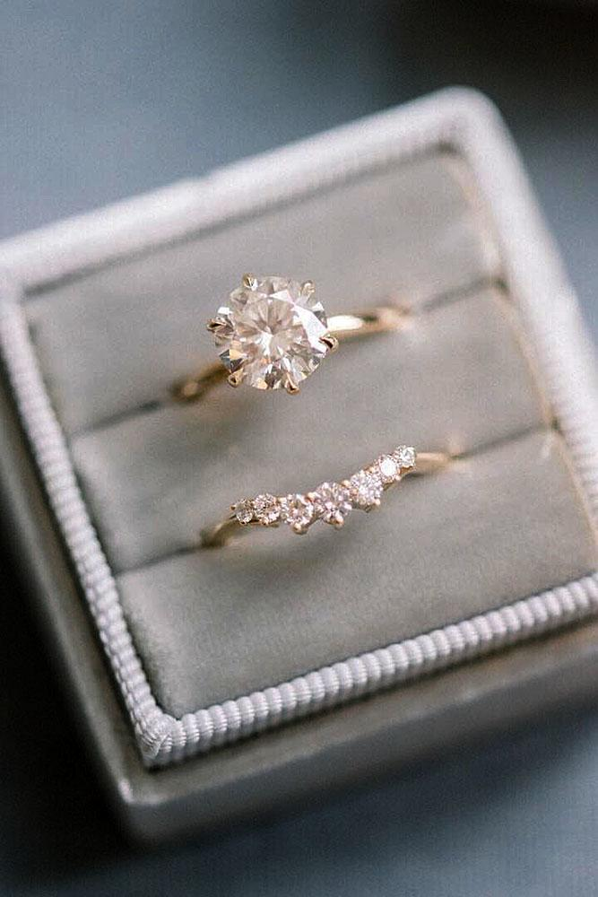 solitaire engagement rings rose gold engagement rings ring boxes round diamond rings wedding ring sets