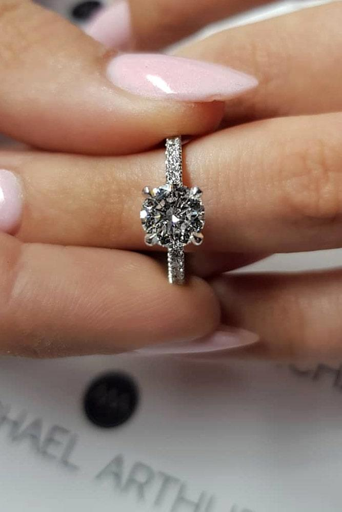 solitaire engagement rings simple engagement rings round engagement rings diamond engagement rings classic rings