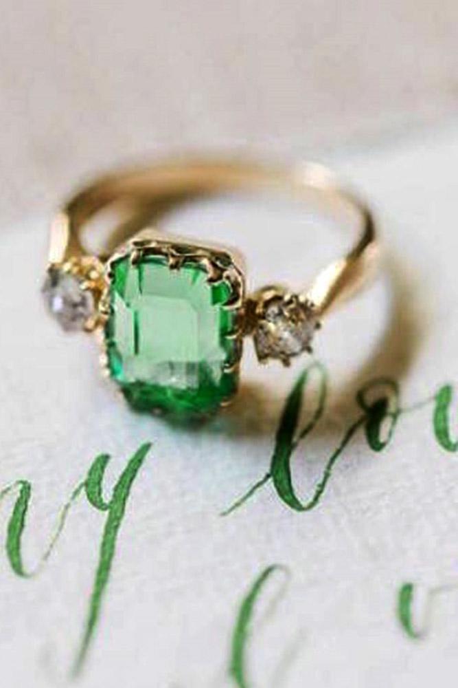 vintage enagement rings unique engagement rings emerald engagement rings three stone engagement rings