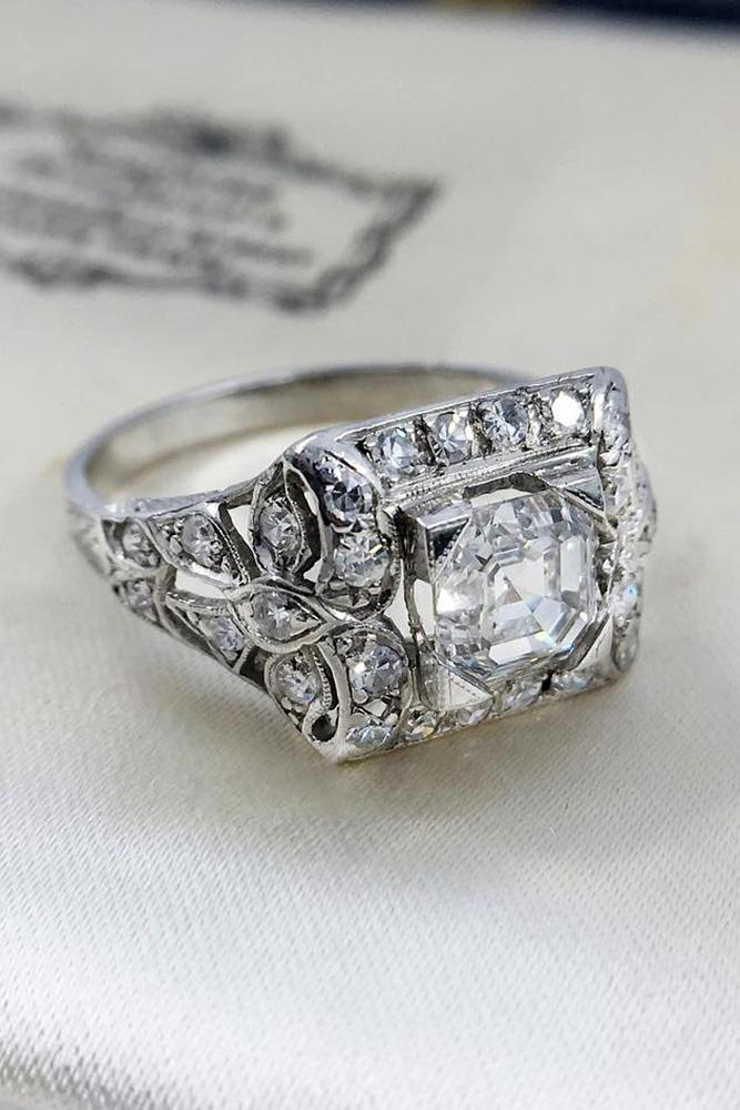 vintage engagement rings white gold engagement rings diamond engagement rings unique engagement rings vintage rings