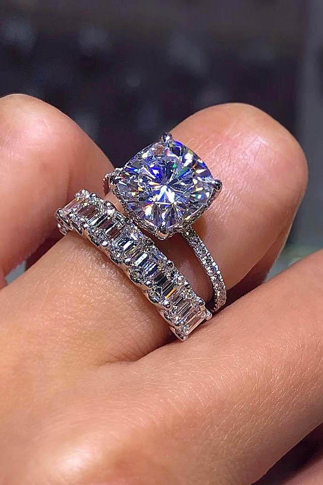 wedding ring sets white gold wedding rings emerald cut rings beautiful rings solitaire engagement rings