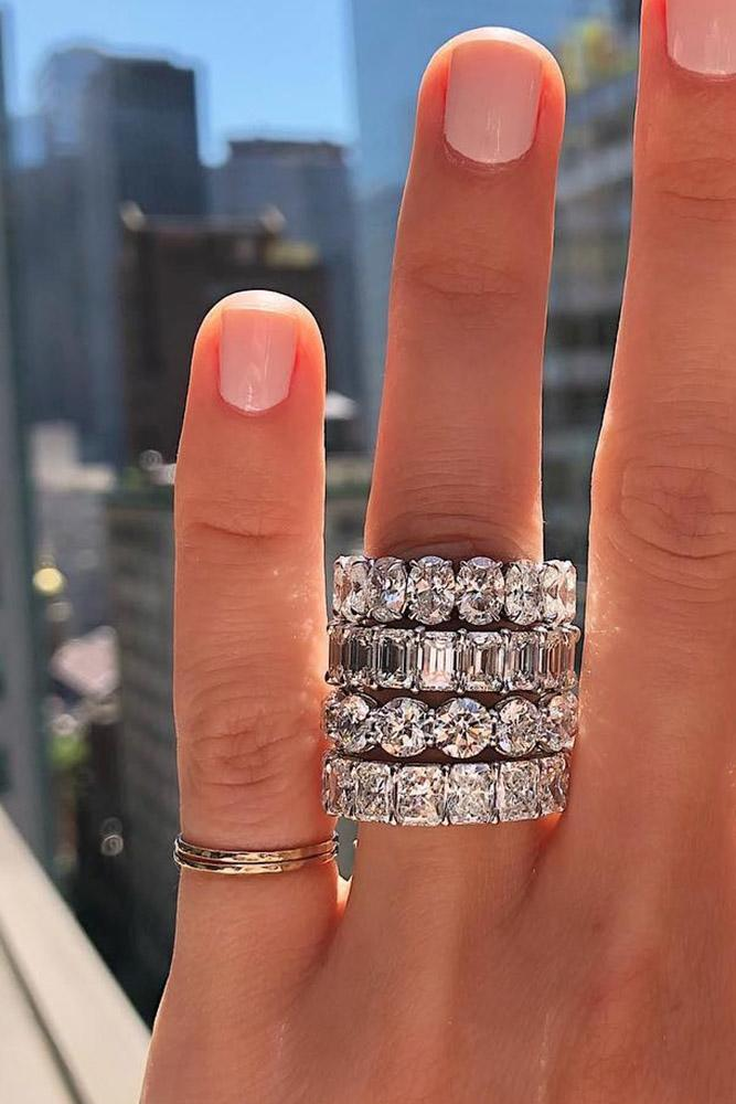 white gold engagement ring wedding ring sets wedding bands diamond wedding bands