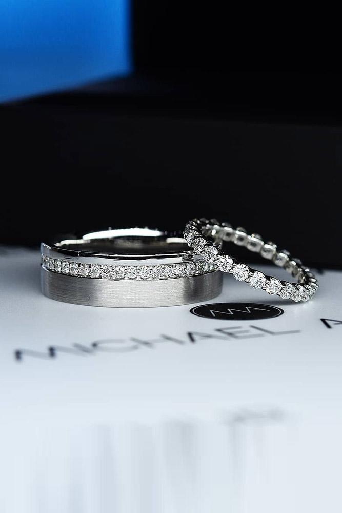 white gold engagement ring wedding ring sets wedding bands diamond wedding bands wedding ring sets