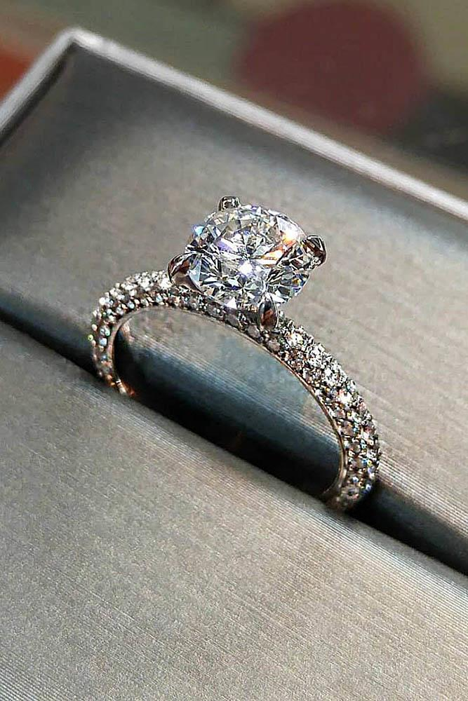 white gold engagement rings diamond engagement rings round engagement rings solitaire engagement rings ring boxes