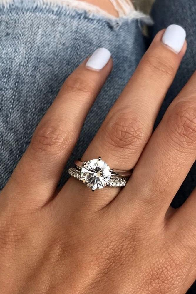 white gold engagement rings diamond engagement rings round engagement rings solitaire engagement rings wedding rings