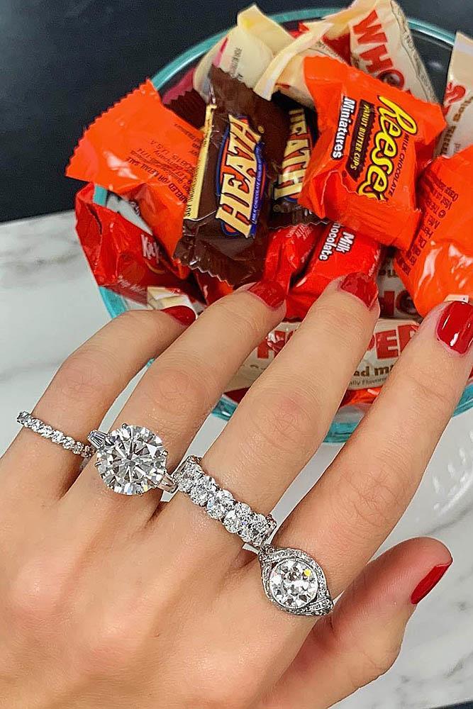 white gold engagement rings diamond engagement rings round engagement rings wedding ring sets modern rings