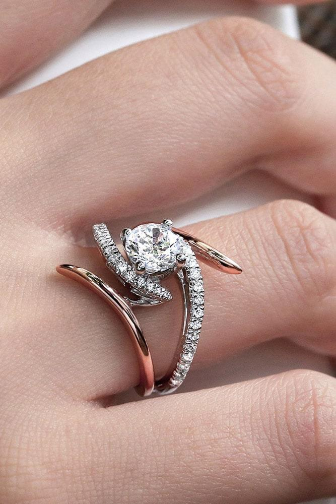 beautiful engagement rings diamond engagement rings two tone engagement rings modern engagement rings