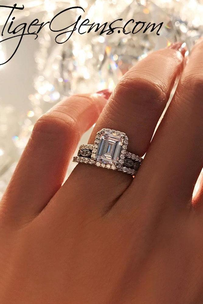 beautiful engagement rings emerald cut engagement rings halo engagement rings white gold engagement rings