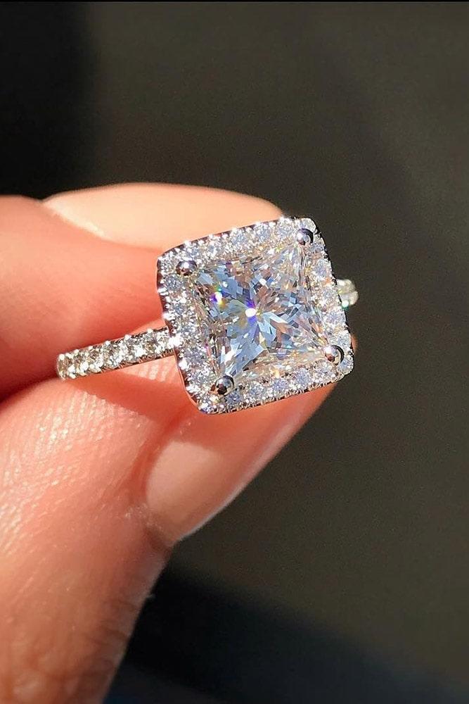 beautiful engagement rings halo engagement rings white gold engagement rings princess cut engagement rings