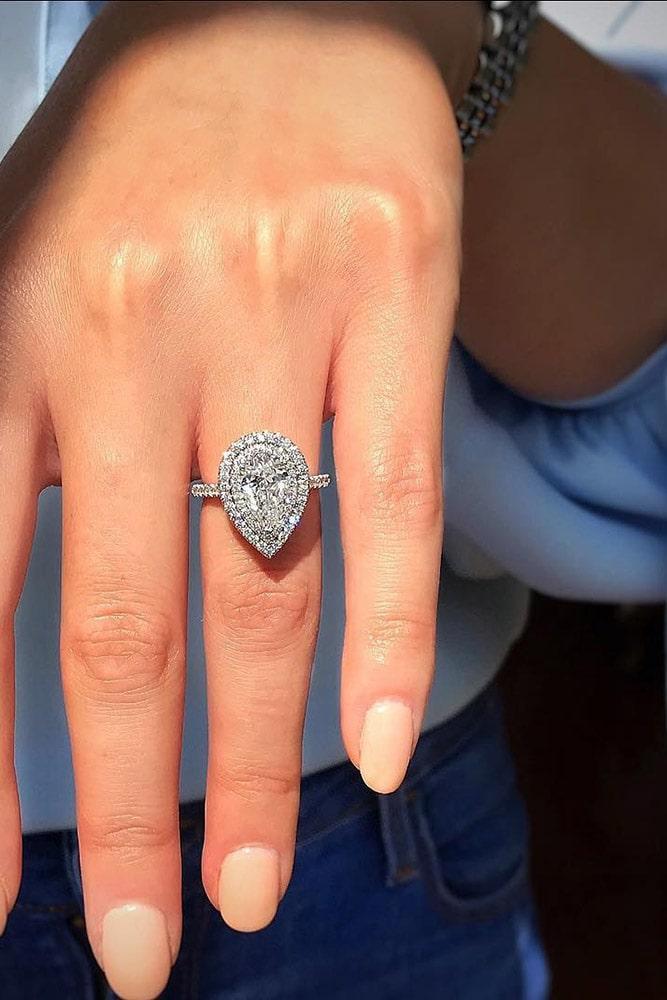 beautiful engagement rings pear cut engagement rings white gold engagement rings halo engagement rings