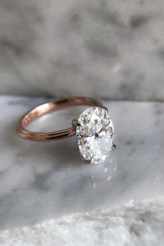 beautiful engagement rings rose gold engagement rings simple engagement rings oval cut engagement rings