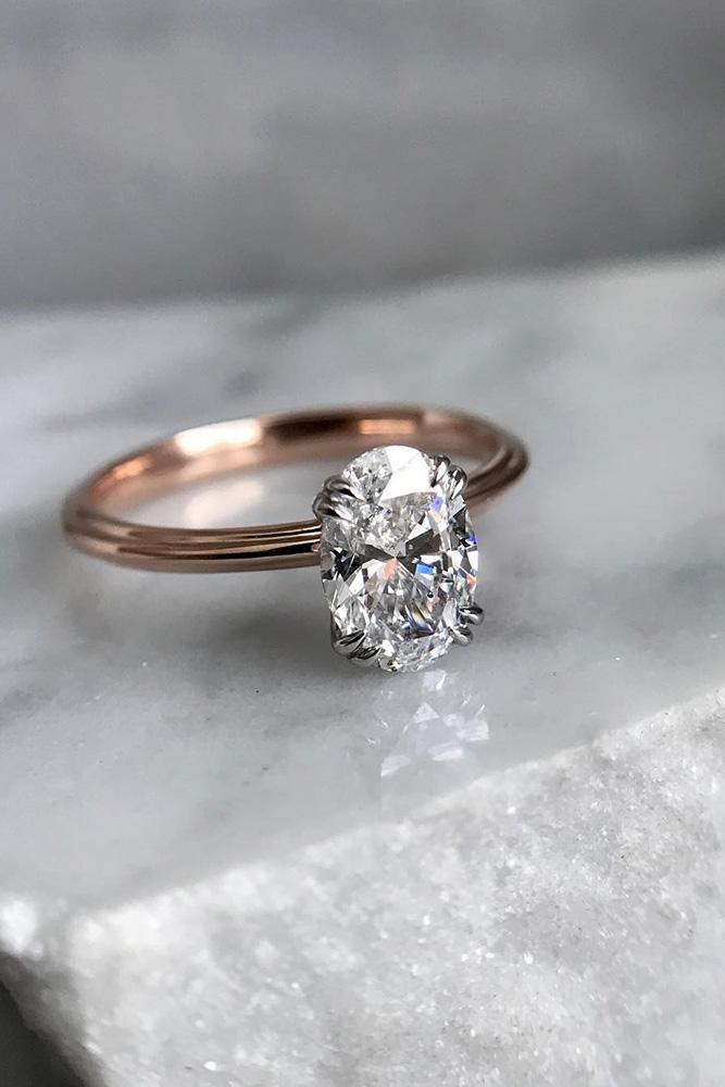 beautiful engagement rings rose gold engagement rings solitaire engagement rings oval cut engagement rings