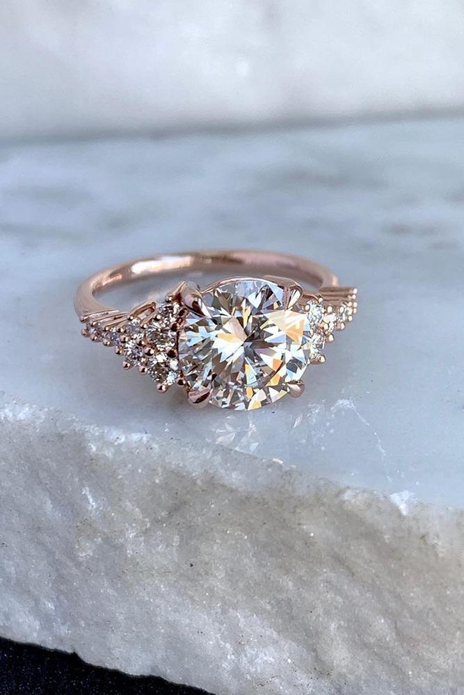 beautiful engagement rings rose gold engagement rings unique engagement rings diamont engagement rings