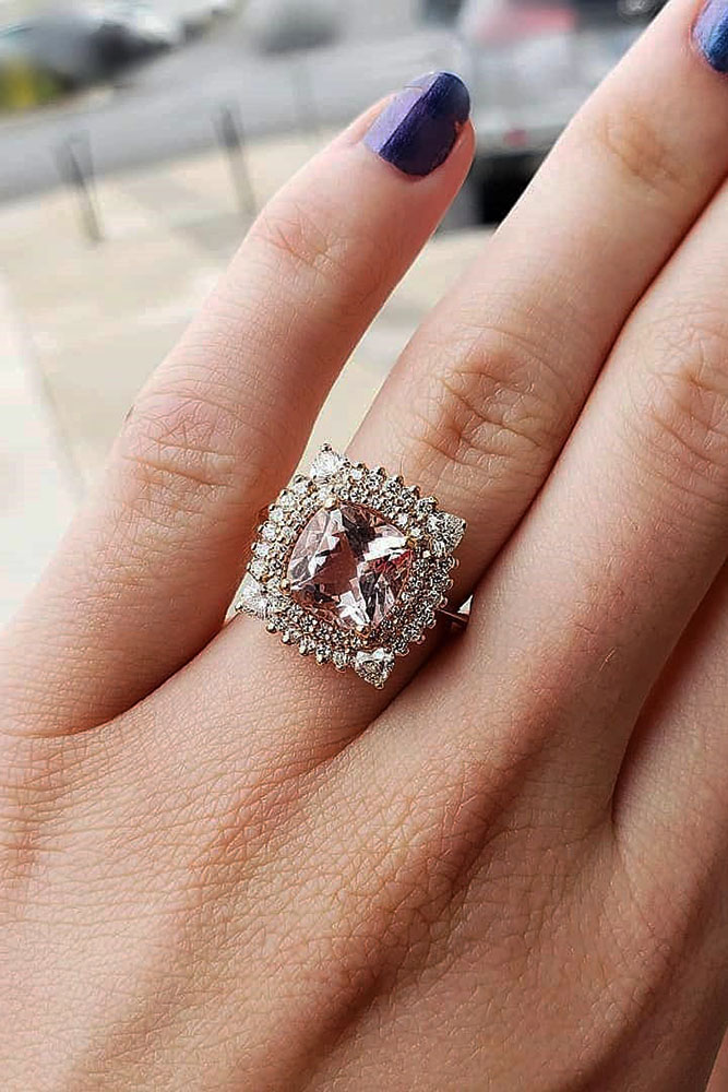 best rose gold engagement rings diamond engagement rings halo engagement rings diamond rings beautiful engagement rings morganite rings