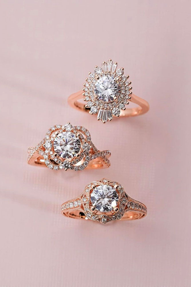 best rose gold engagement rings diamond engagement rings halo engagement rings oval cut diamond rings beautiful engagement rings