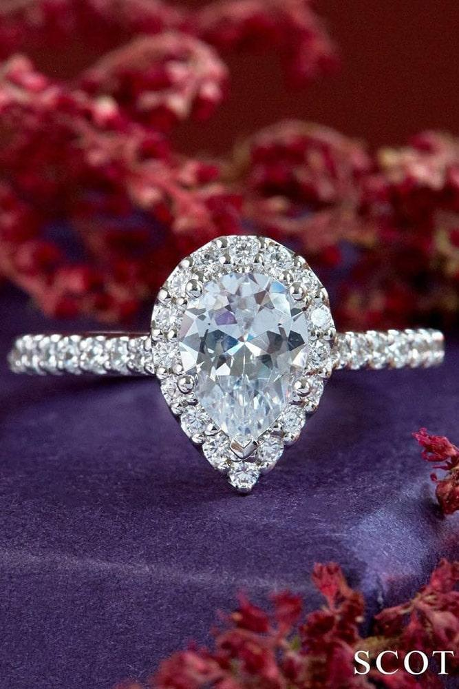 diamond engagement rings pear cut engagement rings halo rings classic rings best rings