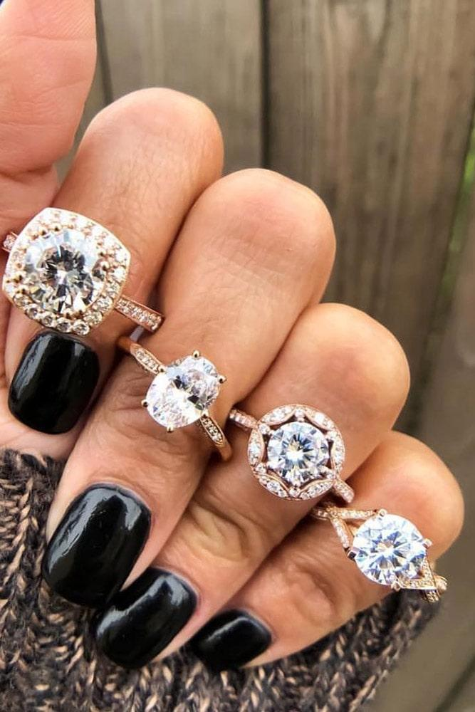 diamond engagement rings rose gold engagement rings round engagement rings halo rings