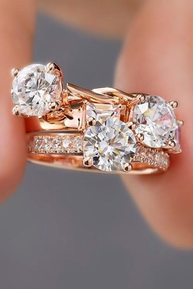 diamond engagement rings round engagement rings simple engagement rings rose gold engagement rings