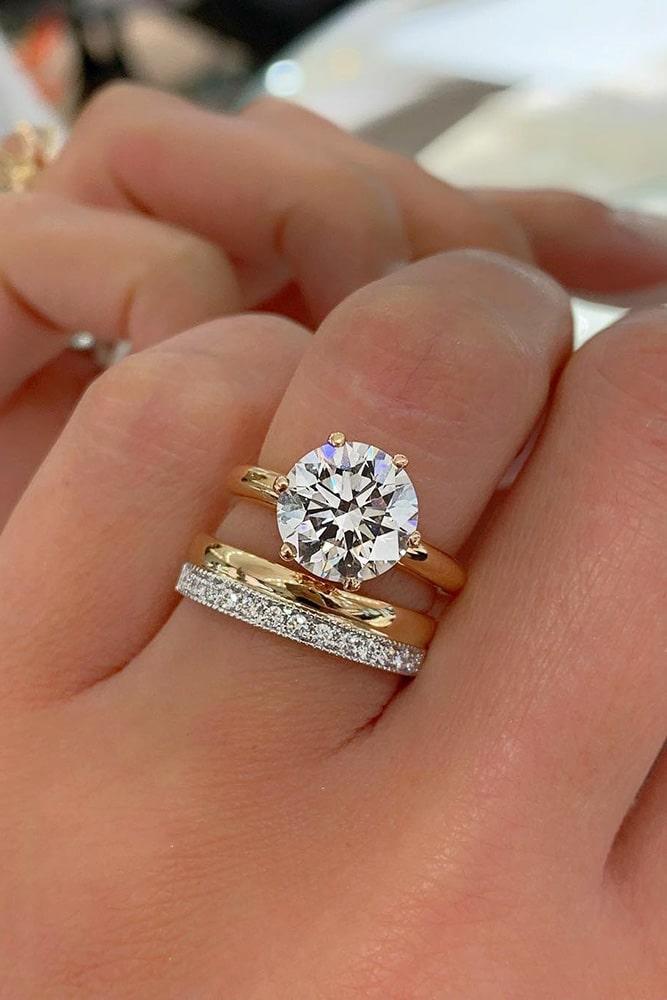 diamond engagement rings wedding ring sets rose gold engagement rings