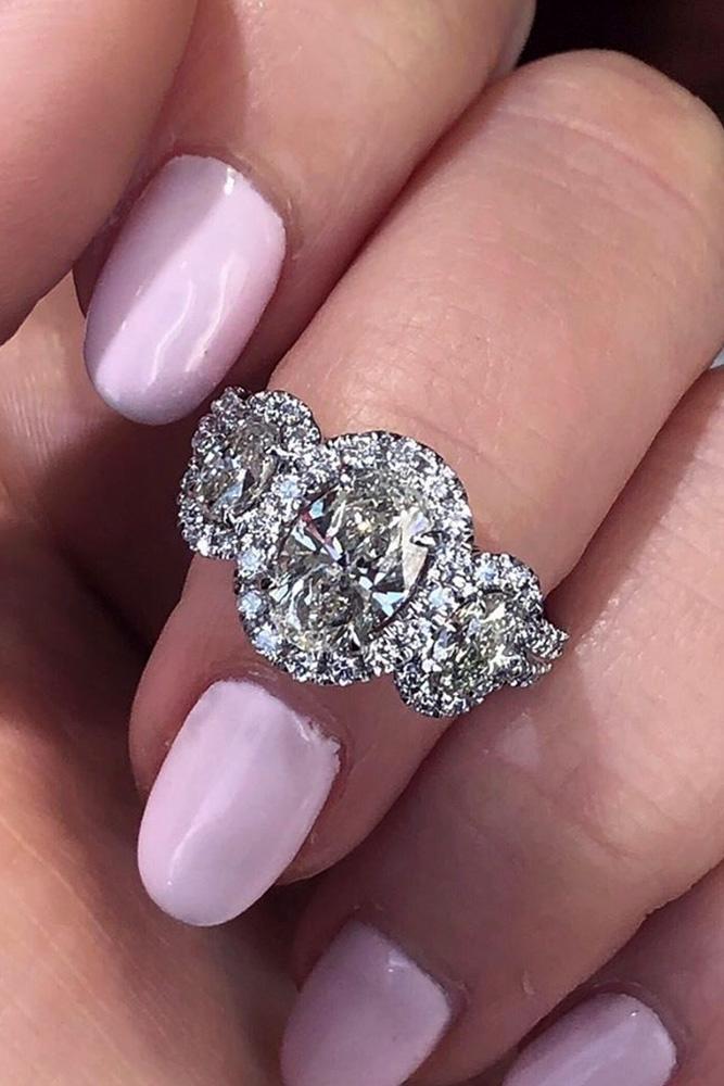 diamond engagement rings white gold engagement rings halo engagement rings oval cut engagement rings three stone engagement rings