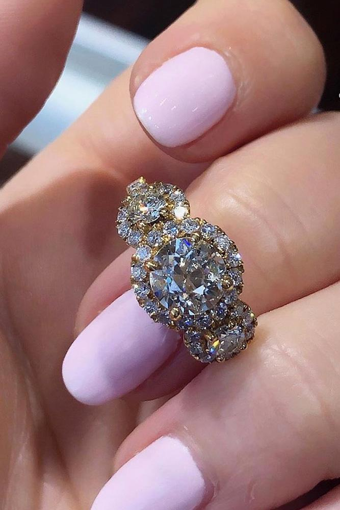 diamond engagement rings white gold engagement rings halo engagement rings round cut engagement rings three stone engagement rings